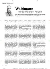 Titelbild der Ausgabe 4/2019 von STANDPUNKT: Waidmann mit dankbarem Herzen. Zeitschriften als Abo oder epaper bei United Kiosk online kaufen.