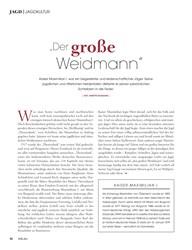 """Titelbild der Ausgabe 1/2020 von JAGDKULTUR: """"Der große Weidmann"""". Zeitschriften als Abo oder epaper bei United Kiosk online kaufen."""