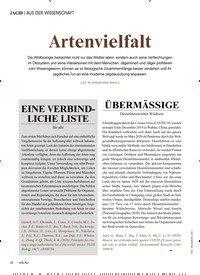 Titelbild der Ausgabe 4/2020 von AUS DER WISSENSCHAFT: Artenvielfalt. Zeitschriften als Abo oder epaper bei United Kiosk online kaufen.
