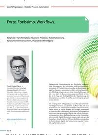 Titelbild der Ausgabe 3/2019 von Forte. Fortissimo. Workflows.. Zeitschriften als Abo oder epaper bei United Kiosk online kaufen.