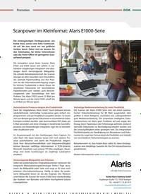 Titelbild der Ausgabe 3/2019 von Promotion: Scanpower im Kleinformat: Alaris E1000-Serie. Zeitschriften als Abo oder epaper bei United Kiosk online kaufen.