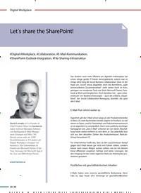 Titelbild der Ausgabe 3/2019 von Let´s share the SharePoint!. Zeitschriften als Abo oder epaper bei United Kiosk online kaufen.