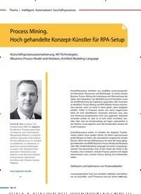 Titelbild der Ausgabe 1/2020 von Process Mining. Hoch gehandelte Konzept-Künstler für RPA-Setup. Zeitschriften als Abo oder epaper bei United Kiosk online kaufen.