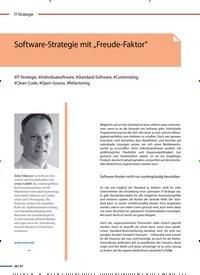 """Titelbild der Ausgabe 1/2020 von Software-Strategie mit """"Freude-Faktor"""". Zeitschriften als Abo oder epaper bei United Kiosk online kaufen."""
