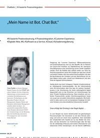 """Titelbild der Ausgabe 2/2020 von """"Mein Name ist Bot. Chat Bot."""". Zeitschriften als Abo oder epaper bei United Kiosk online kaufen."""