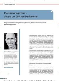 Titelbild der Ausgabe 2/2020 von Prozessmanagement – abseits der üblichen Denkmuster. Zeitschriften als Abo oder epaper bei United Kiosk online kaufen.
