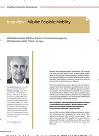 Titelbild der Ausgabe 4/2020 von Interview | Mission Possible: Mobility. Zeitschriften als Abo oder epaper bei United Kiosk online kaufen.