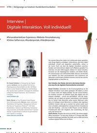 Titelbild der Ausgabe 4/2020 von Interview | Digitale Interaktion. Voll individuell!. Zeitschriften als Abo oder epaper bei United Kiosk online kaufen.