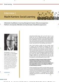 Titelbild der Ausgabe 5/2020 von Interview: Macht Karriere: Social Learning. Zeitschriften als Abo oder epaper bei United Kiosk online kaufen.