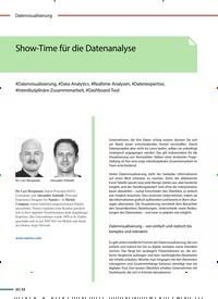 Titelbild der Ausgabe 5/2020 von Show-Time für die Datenanalyse. Zeitschriften als Abo oder epaper bei United Kiosk online kaufen.