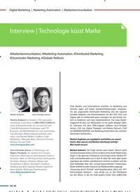 Titelbild der Ausgabe 6/2020 von Markenkommunikation: Interview | Technologie küsst Marke. Zeitschriften als Abo oder epaper bei United Kiosk online kaufen.