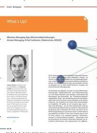 Titelbild der Ausgabe 6/2020 von What´s Up?. Zeitschriften als Abo oder epaper bei United Kiosk online kaufen.