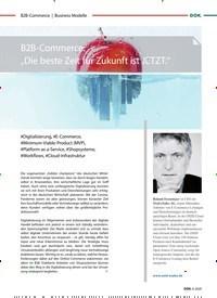 """Titelbild der Ausgabe 6/2020 von Business Modelle: B2B-Commerce: """"Die beste Zeit für Zukunft ist JETZT."""". Zeitschriften als Abo oder epaper bei United Kiosk online kaufen."""