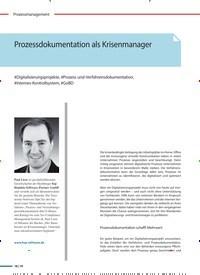 Titelbild der Ausgabe 2/2021 von Prozessdokumentation als Krisenmanager. Zeitschriften als Abo oder epaper bei United Kiosk online kaufen.