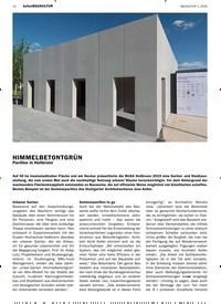 Titelbild der Ausgabe 1/2020 von betonBAUKULTUR: HIMMELBETONTGRÜN. Zeitschriften als Abo oder epaper bei United Kiosk online kaufen.