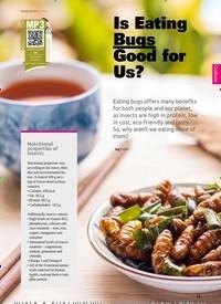 Titelbild der Ausgabe 6/2019 von Is Eating Bugs Good for Us?. Zeitschriften als Abo oder epaper bei United Kiosk online kaufen.