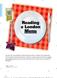 Titelbild der Ausgabe 1/2020 von Reading a London Menu. Zeitschriften als Abo oder epaper bei United Kiosk online kaufen.