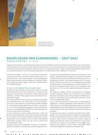 Titelbild der Ausgabe 1/2020 von BAUEN GEGEN DEN KLIMAWANDEL – GEHT DAS?. Zeitschriften als Abo oder epaper bei United Kiosk online kaufen.
