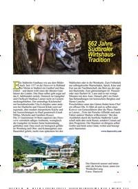 Titelbild der Ausgabe 4/2019 von 662 Jahre Südtiroler Wirtshaus- Tradition. Zeitschriften als Abo oder epaper bei United Kiosk online kaufen.