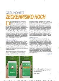 Titelbild der Ausgabe 4/2019 von GESUNDHEIT: ZECKENRISIKO HOCH. Zeitschriften als Abo oder epaper bei United Kiosk online kaufen.
