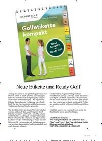 Titelbild der Ausgabe 5/2019 von Neue Etikette und Ready Golf. Zeitschriften als Abo oder epaper bei United Kiosk online kaufen.