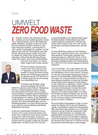 Titelbild der Ausgabe 5/2019 von NEWS: UMWELT: ZERO FOOD WASTE. Zeitschriften als Abo oder epaper bei United Kiosk online kaufen.