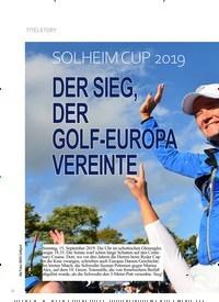 Titelbild der Ausgabe 5/2019 von TITELSTORY: SOLHEIM CUP 2019: DER SIEG, DER GOLF-EUROPA VEREINTE. Zeitschriften als Abo oder epaper bei United Kiosk online kaufen.