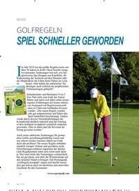 Titelbild der Ausgabe 1/2020 von GOLFREGELN: SPIEL SCHNELLER GEWORDEN. Zeitschriften als Abo oder epaper bei United Kiosk online kaufen.