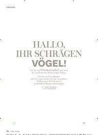 Titelbild der Ausgabe 3/2018 von ZOOLOGIE: HALLO, IHR SCHRÄGEN VÖGEL!. Zeitschriften als Abo oder epaper bei United Kiosk online kaufen.