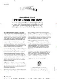 Titelbild der Ausgabe 4/2019 von KOLUMNE: EINE SACHE NAMENS PLASTIK (2): LERNEN VON MR. POE. Zeitschriften als Abo oder epaper bei United Kiosk online kaufen.