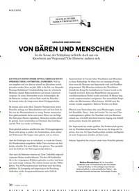 Titelbild der Ausgabe 6/2019 von KOLUMNE: URSACHE UND WIRKUNG: VON BÄREN UND MENSCHEN. Zeitschriften als Abo oder epaper bei United Kiosk online kaufen.