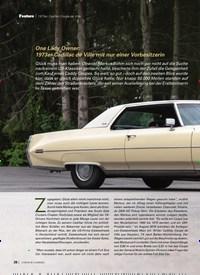 Titelbild der Ausgabe 8/2019 von 1973er Cadillac Coupe de Ville: One Lady Owner: 1973er Cadillac de Ville mit nur einer Vorbesitzerin. Zeitschriften als Abo oder epaper bei United Kiosk online kaufen.