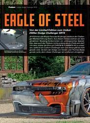 Titelbild der Ausgabe 10/2019 von 2009er Dodge Challenger SRT8: EAGLE OF STEEL. Zeitschriften als Abo oder epaper bei United Kiosk online kaufen.