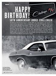 Titelbild der Ausgabe 10/2019 von Dodge Challenger History: Happy Birthday!. Zeitschriften als Abo oder epaper bei United Kiosk online kaufen.