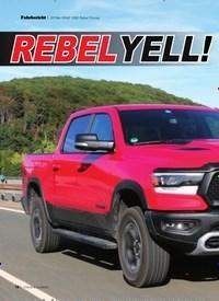 Titelbild der Ausgabe 12/2019 von 2019er RAM 1500 Rebel Pickup: REBELYELL!. Zeitschriften als Abo oder epaper bei United Kiosk online kaufen.