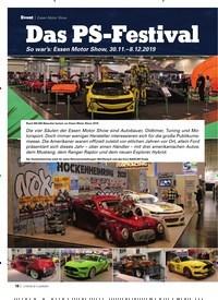 Titelbild der Ausgabe 2/2020 von Essen Motor Show: Das PS-Festival. Zeitschriften als Abo oder epaper bei United Kiosk online kaufen.