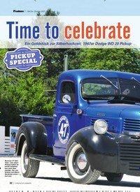 Titelbild der Ausgabe 8/2019 von 1947er Dodge WD 20 Pickup: Time to celebrate. Zeitschriften als Abo oder epaper bei United Kiosk online kaufen.