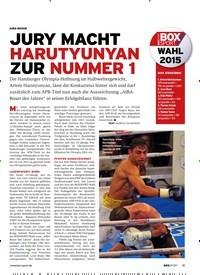 Titelbild der Ausgabe 1/2019 von AIBA-boxer: JURY MACHT HARUTYUNYAN ZUR NUMMER 1. Zeitschriften als Abo oder epaper bei United Kiosk online kaufen.