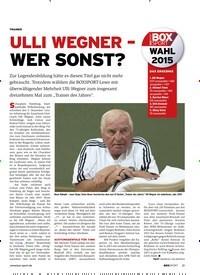 Titelbild der Ausgabe 1/2019 von ULLI WEGNER – WER SONST ?. Zeitschriften als Abo oder epaper bei United Kiosk online kaufen.
