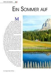 Titelbild der Ausgabe 9/2019 von Ein Sommer auf der Seiser Alm. Zeitschriften als Abo oder epaper bei United Kiosk online kaufen.