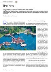 Titelbild der Ausgabe 9/2019 von Bad Heviz: Ungarns sprudelnde Quelle der Gesundheit. Zeitschriften als Abo oder epaper bei United Kiosk online kaufen.