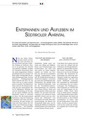 Titelbild der Ausgabe 7/2020 von ENTSPANNEN UND AUFLEBEN IM SÜDTIROLER AHRNTAL. Zeitschriften als Abo oder epaper bei United Kiosk online kaufen.
