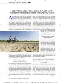 Titelbild der Ausgabe 8/2020 von Mit Paddel und Pedal durchs platte Land. Zeitschriften als Abo oder epaper bei United Kiosk online kaufen.