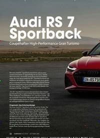 Titelbild der Ausgabe 2/2019 von VELOCITY: Audi RS 7 Sportback. Zeitschriften als Abo oder epaper bei United Kiosk online kaufen.