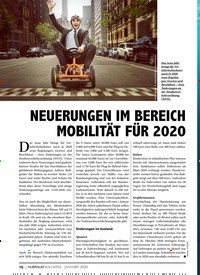 Titelbild der Ausgabe 1/2020 von NEUERUNGEN IM BEREICH MOBILITÄT FÜR 2020. Zeitschriften als Abo oder epaper bei United Kiosk online kaufen.