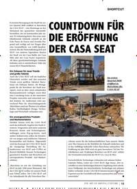 Titelbild der Ausgabe 1/2020 von COUNTDOWN FÜR DIE ERÖFFNUNG DER CASA SEAT. Zeitschriften als Abo oder epaper bei United Kiosk online kaufen.