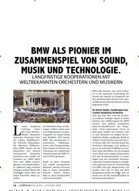 Titelbild der Ausgabe 1/2020 von BMW ALS PIONIER IM ZUSAMMENSPIEL VON SOUND, MUSIK UND TECHNOLOGIE.. Zeitschriften als Abo oder epaper bei United Kiosk online kaufen.