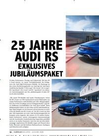 Titelbild der Ausgabe 1/2020 von 25 JAHRE AUDI RS EXKLUSIVES JUBILÄUMSPAKET. Zeitschriften als Abo oder epaper bei United Kiosk online kaufen.