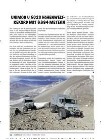 Titelbild der Ausgabe 2/2020 von UNIMOG U 5023 HÖHENWELT- REKORD MIT 6.694 METERN. Zeitschriften als Abo oder epaper bei United Kiosk online kaufen.