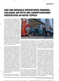 Titelbild der Ausgabe 2/2020 von SHORTCUT: AUDI UND BERLINALE PRÄSENTIEREN SPANNUNG- SGELADENE AUFTRITTE UND ZUKUNFTSWEISENDE PERSPEKTIVEN AM ROTEN TEPPICH. Zeitschriften als Abo oder epaper bei United Kiosk online kaufen.